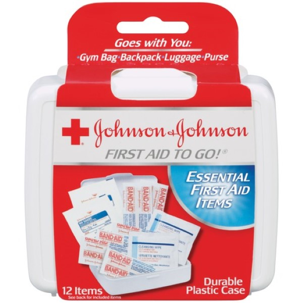 J&J FIRST AID KIT TO GO 12'S #08295