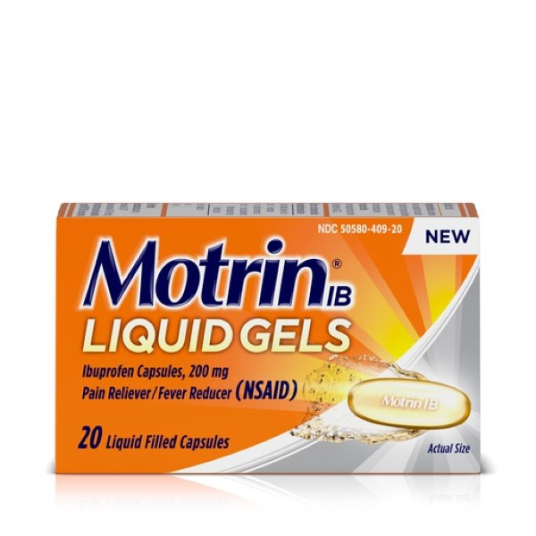 MOTRIN IB LIQUID GELS 20'S