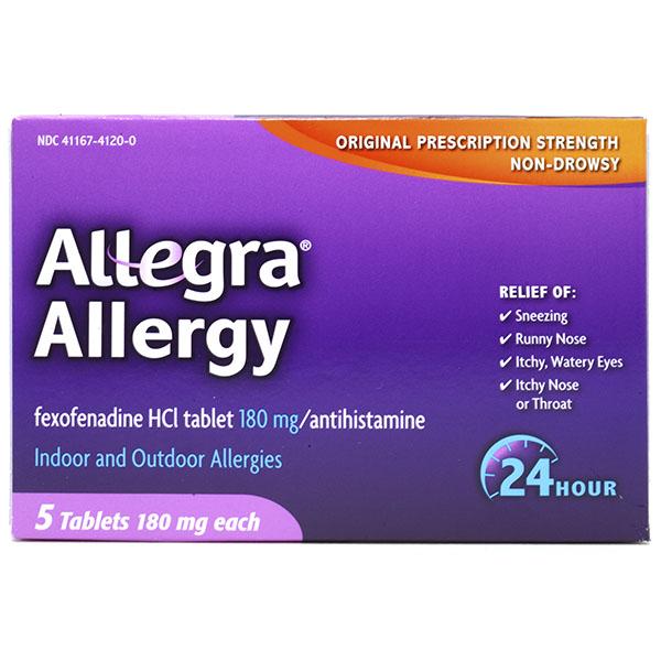ALLEGRA ALLERGY TABLET 5'S
