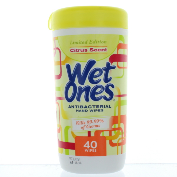 WET ONES WIPES 40'S JAR *A/B TROP. SPLASH*