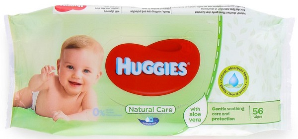 HUGGIES BABY WIPES SOFT PK. 56'S IMP. *NATURAL CARE*