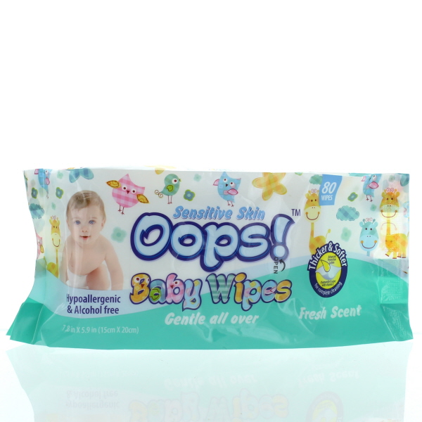 BABY WIPES SOFT PK. 80'S *BLUE*