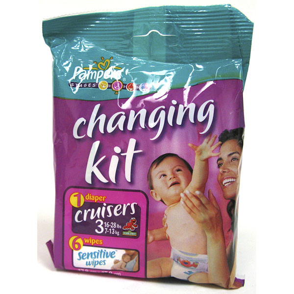 PAMPERS CRUISERS DIAPER CHANGING KIT 1+6 WIPES #3