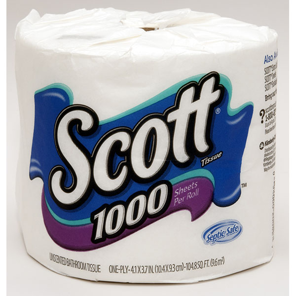 SCOTT TOILET TISSUES 1000 SHT. 45CT