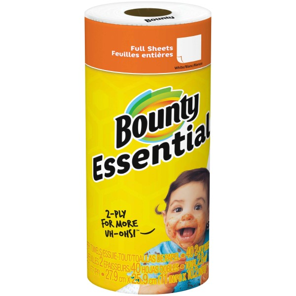 BOUNTY PAPER TOWEL 40 SHTS. 2-PLY 30CT *ESSENTIALS*