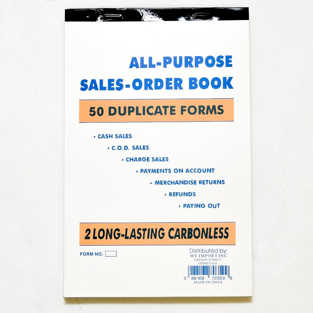 ALL PURPOSE SALES/ORDER BOOK 50 SH #70359