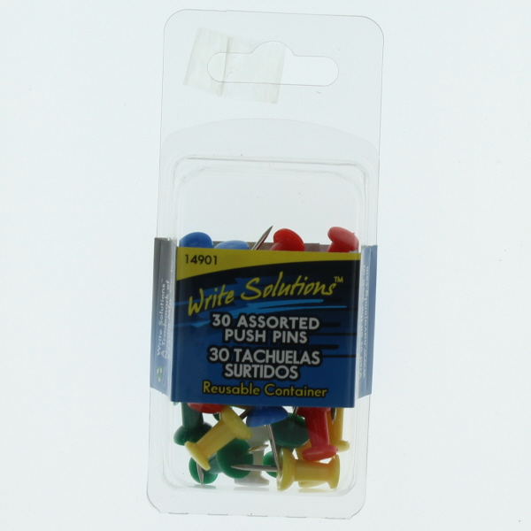 WRITE SOLUTIONS PUSH PINS 30'S