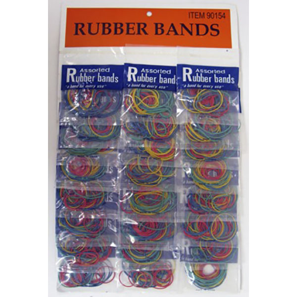 RUBBER BAND ASST. SZ. CARD 24CT