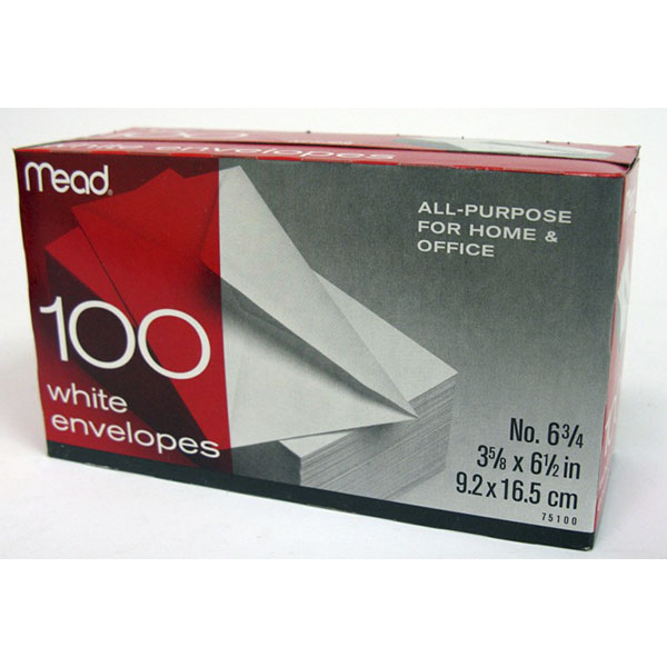 MEAD ENVELOPE SMALL #6-3/4 100'S #75100