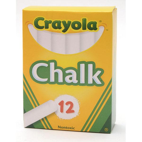CRAYOLA CHALK STICK 12`S *WHITE*