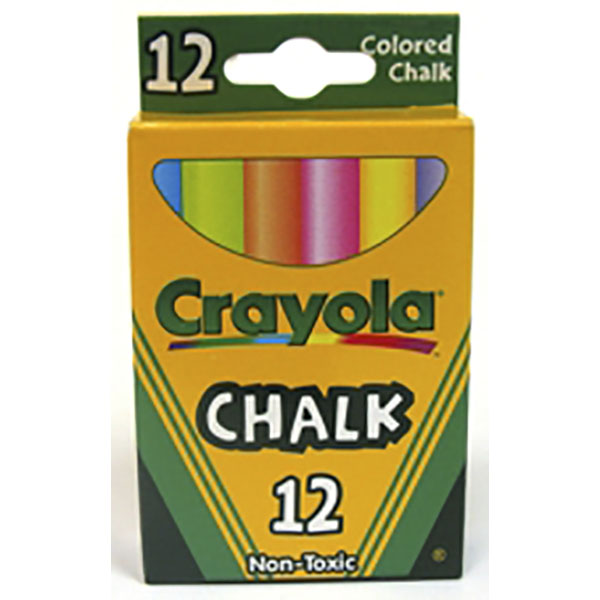 CRAYOLA CHALK STICK 12`S *COLOR*
