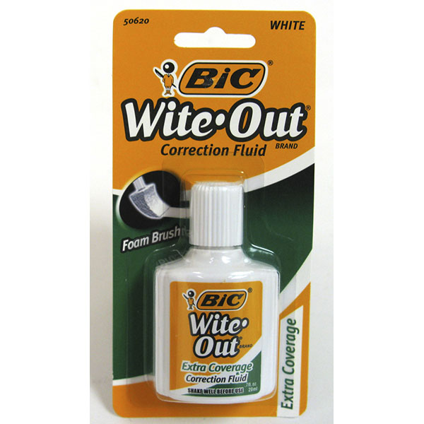 BIC CORRECTION FLUID 0.7FL.OZ *WITE-OUT* #50620