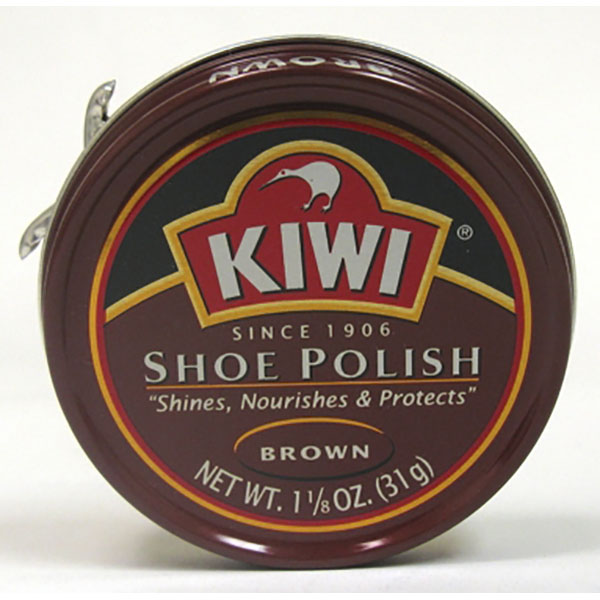 KIWI SHOE POLISH CAN 1.1/8 OZ *BROWN*