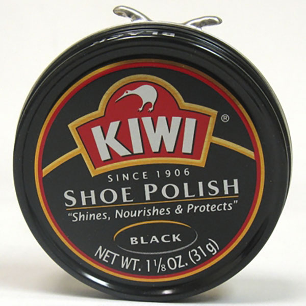 KIWI SHOE POLISH CAN 1.1/8 OZ *BLACK*