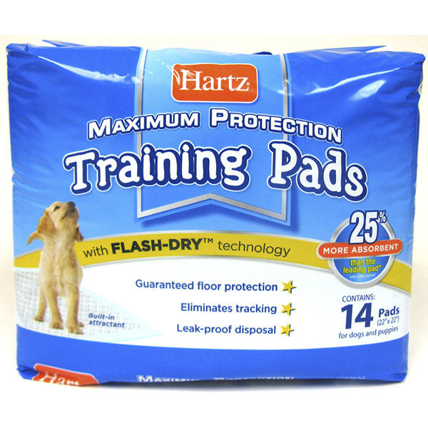HARTZ PUPPY TRAINING PADS 14'S