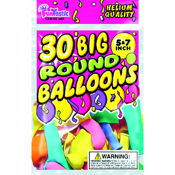 BALLOONS BIG ROUND 30'S