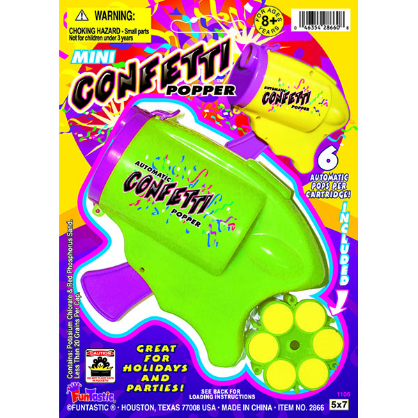 CONFETTI POPPER GUN W/CARTRIDGE