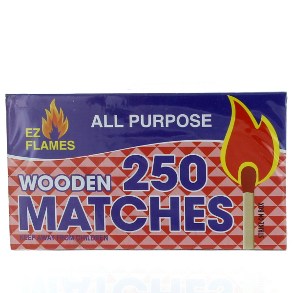 SAFETY WOODEN KIT. MATCHES 250'S 2PK