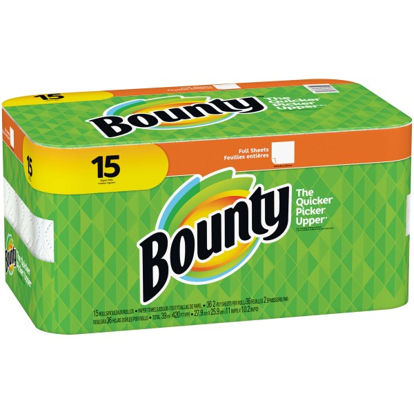 BOUNTY PAPER TOWEL 40 SHTS. 2-PLY 15CT