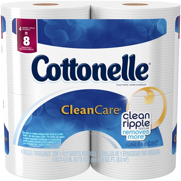 COTTONELLE TOILET TISSUES 166 SHT. 4'S DBL ROLLS *ULTRA COMFORT CARE*