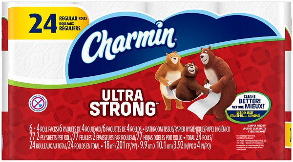 CHARMIN TOILET TISSUES 77 SHT. 4'S 6CT *ULTRA STRONG*