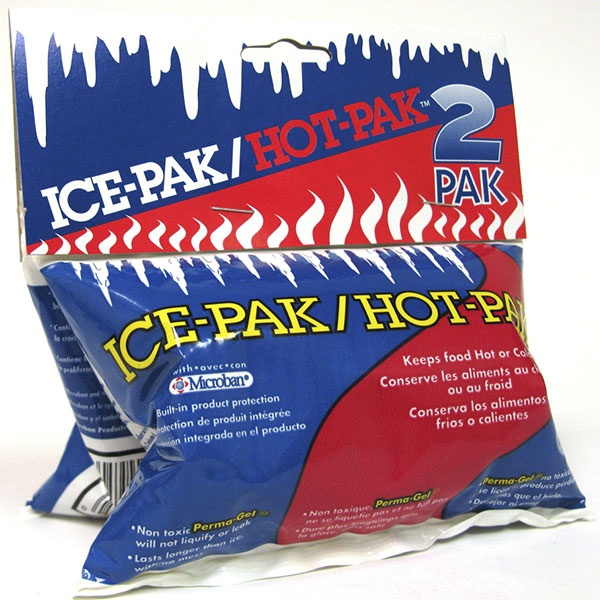 ICE-PAK/HOT-PAK REUSABLE COLD/HOT GEL PKS 2'S
