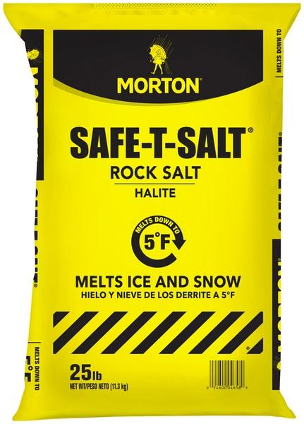 MORTON SAFE-T ROCK SALT BAGS 25LB