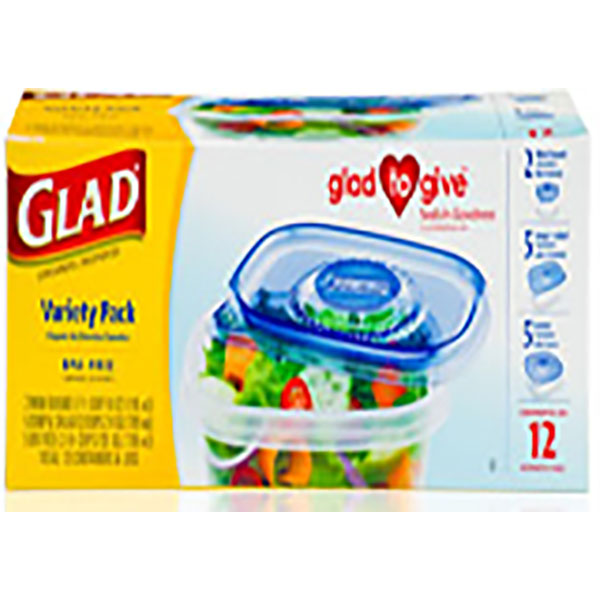 GLAD CONTAINERS W/LID 12'S *VARIETY PACK*