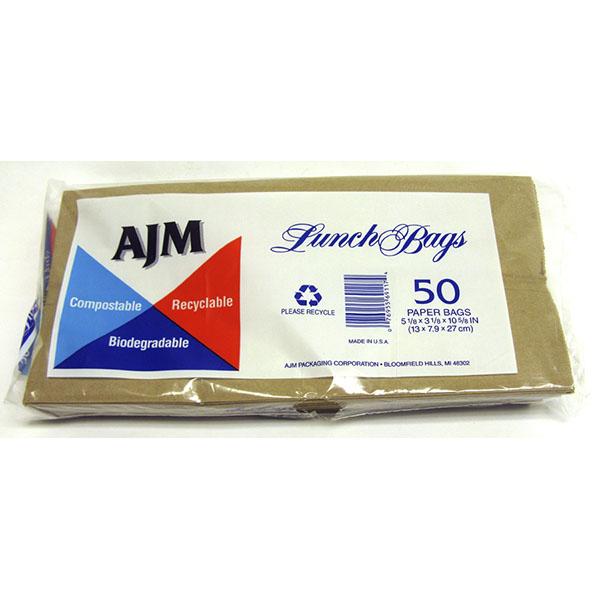 AJM PAPER LUNCH BAGS 50'S