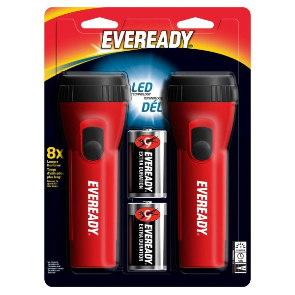 EVEREADY LED FLASHLIGHT 2'S W/BATTERY