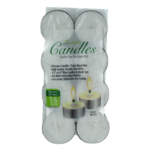 TEALIGHT CANDLES 16'S