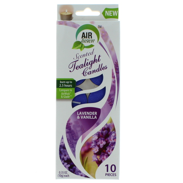 AIR FUSION SCENTED TEALIGHT CANDLES 10'S *LAVENDER & VANILLA