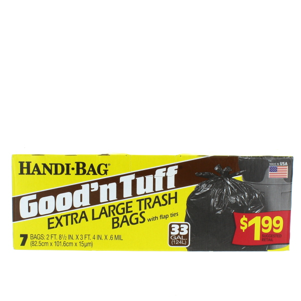 GOOD'N TUFF TRASH BAGS 33 GAL 7'S LG. PP$1.99