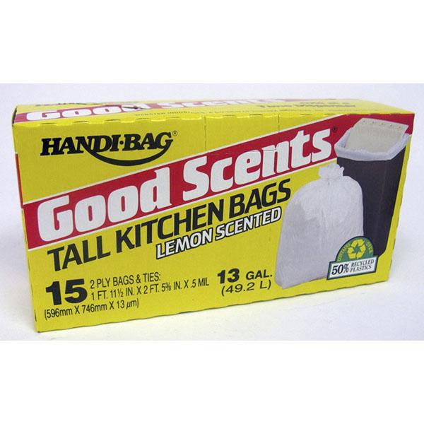 GOOD'N TUFF TRASH BAGS 13 GAL 15'S TALL KIT. PP$1.99