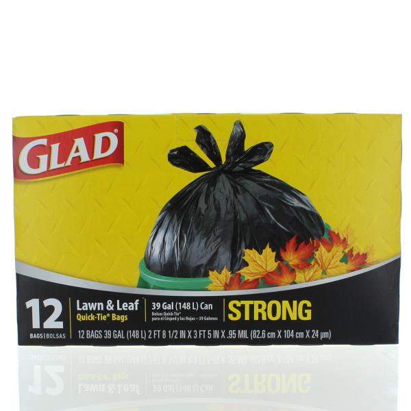 GLAD 39 GAL 12'S LAWN & LEAF BAGS *QUICK-TIE*
