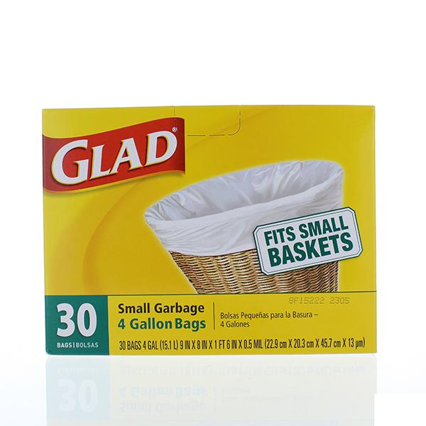 GLAD 04 GAL 30'S SMALL TRASH BAGS