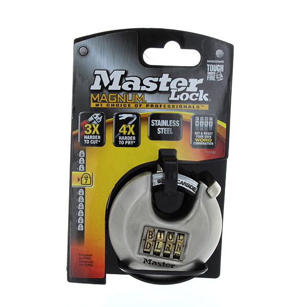 MASTER LOCK MAGNUM DISC COMBINATION LOCK 2-3/4