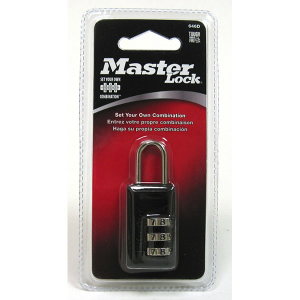 MASTER LOCK LUGGAGE COMBINATION LOCK 13/16