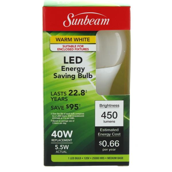 SUNBEAM LED LIGHT BULB 40/5.5W