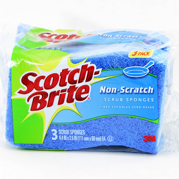 SCOTCH-BRITE SCRUB SPONGE 3'S *NON SCRATCH* #MP-3