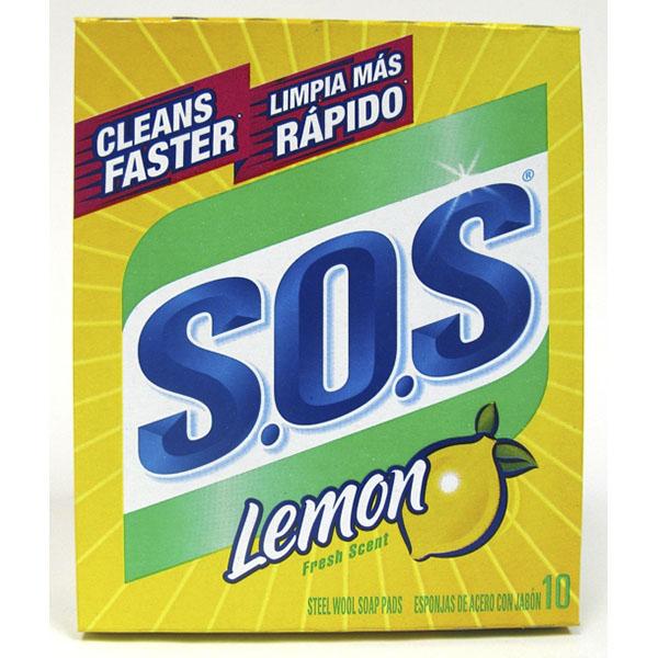 S.O.S STEEL WOOL SOAP PAD 10'S *LEMON SCENT*