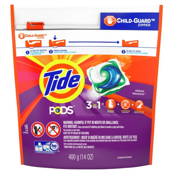 TIDE LAUNDRY PODS 16'S *SPRING MEADOW*