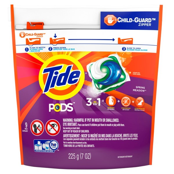 TIDE LAUNDRY PODS 9'S *SPRING MEADOW*