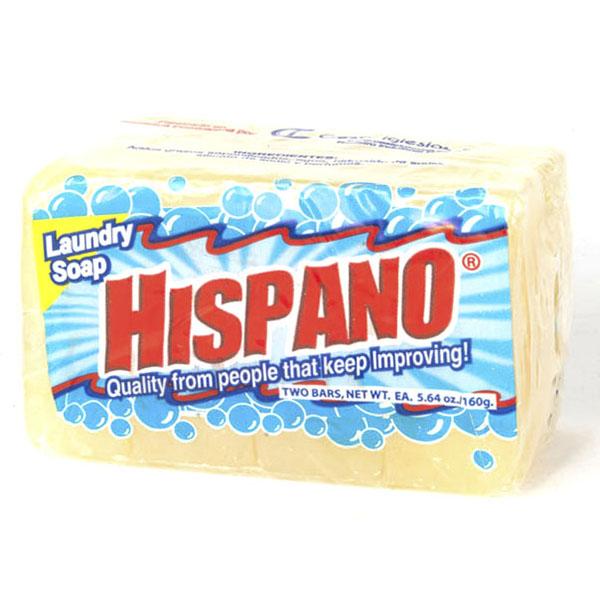 HISPANO LAUNDRY SOAP BAR IMP. 2'S 160GM *SQUARE*