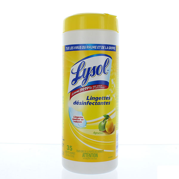 LYSOL DISINFECTING WIPES 35'S JAR *CITRUS SCENT*