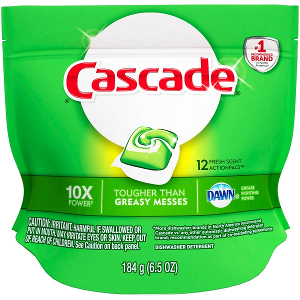CASCADE DISH DETERGENT 5'S 8.1OZ *ORIGINAL*