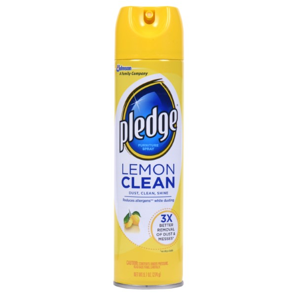 PLEDGE FURNITURE SPRAY 9.7OZ *LEMON CLEAN*