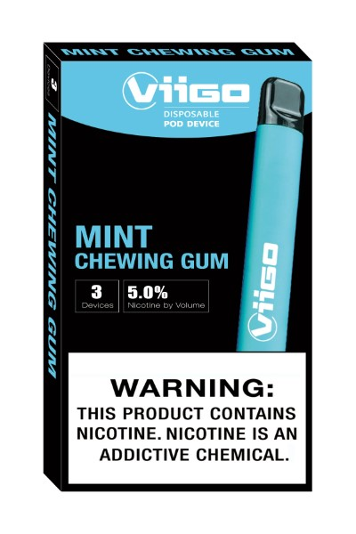 VIIGO DISP. POD DEVICE 5% 3'S 4.2ML/PK *MINT CHEW. GUM*