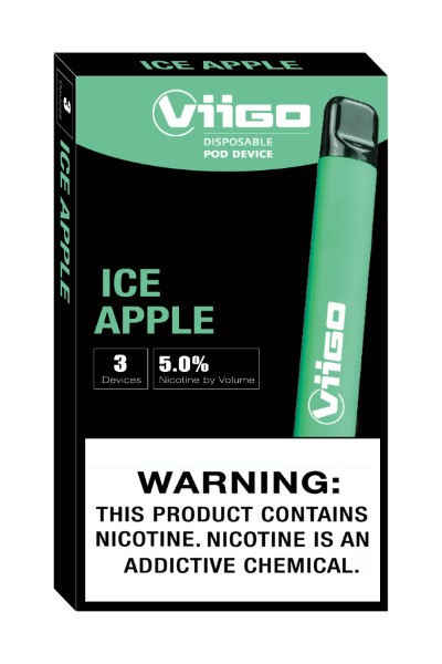 VIIGO DISP. POD DEVICE 5% 3'S 4.2ML/PK *ICED APPLE*