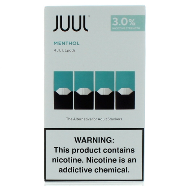 JUUL PODS 4'S 3% 22.4ML/BX *MENTHOL*
